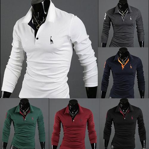 2015 HOT SALE Long sleeve men polo shirt Fashion Moleton Masculino Tracksuits Embroidery t Shirt Men Wear Sleeved Polo for Men(China (Mainland))