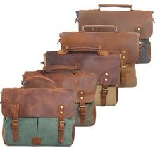 2014 men's Messenger Bag Retro Canvas leather patchwork  Handbag Crossbody Multifunctional laptop briefcase Free Shipping AR203