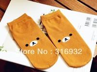K6 Brown Rilakkuma plush socks warm winter socks cute socks Christmas gift