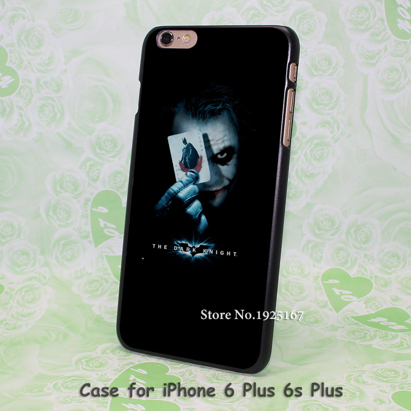 Fashion Stylish Joker batman Pattern hard black Case Cover for iPhone 4 4s 5 5s 5c 6 6s 6 Plus 6s Plus(China (Mainland))