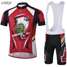 Buy CHEJI Men Cycling Jersey/Cycling Clothing Ghost Rider Bicycle Team Shirt Cycling Clothes Cycling Wear CC1005 for $25.51 in AliExpress store