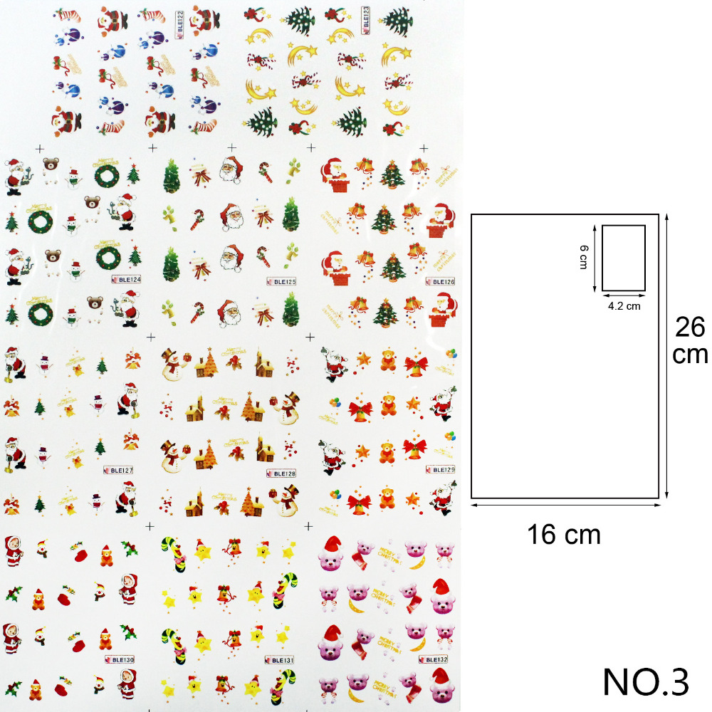 Y&S 1 big sheet Water Transfer Foil Nails Art Sticker Christmas Snowflake Designs Nails Sticker Manicure Decor Decals(China (Mainland))