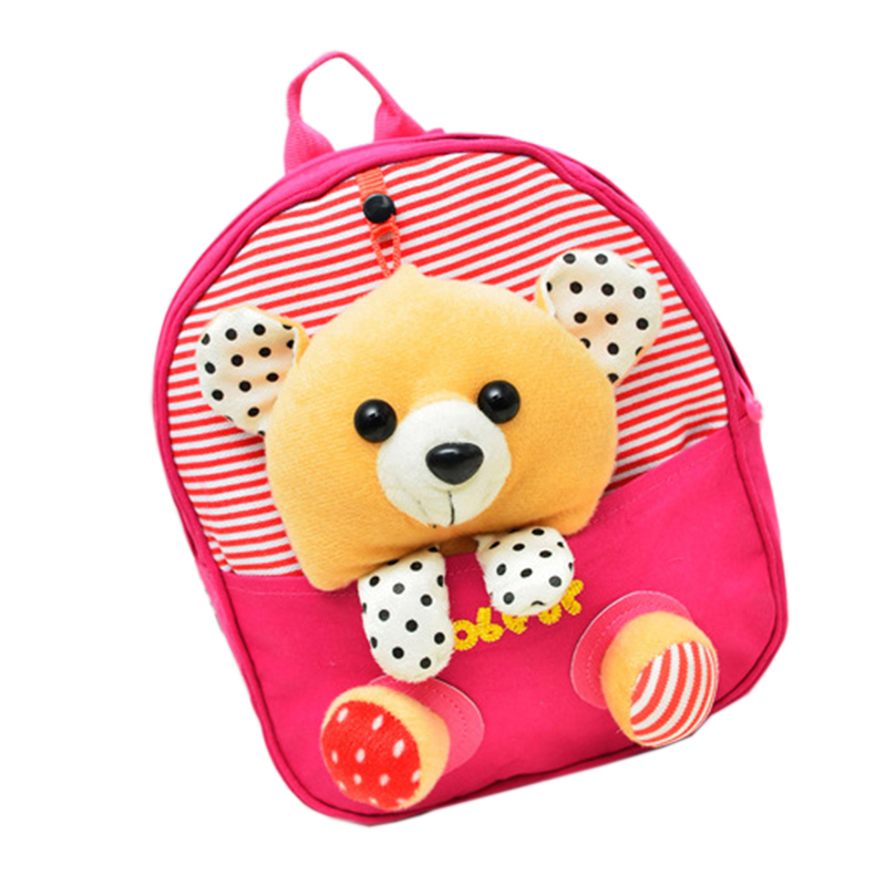 2015 New Brand Beautiful Cute Canvas Shoulder Backpack Baby Nursery Cartoon Style Bag for Baby Kids Children,Girls Boys Student