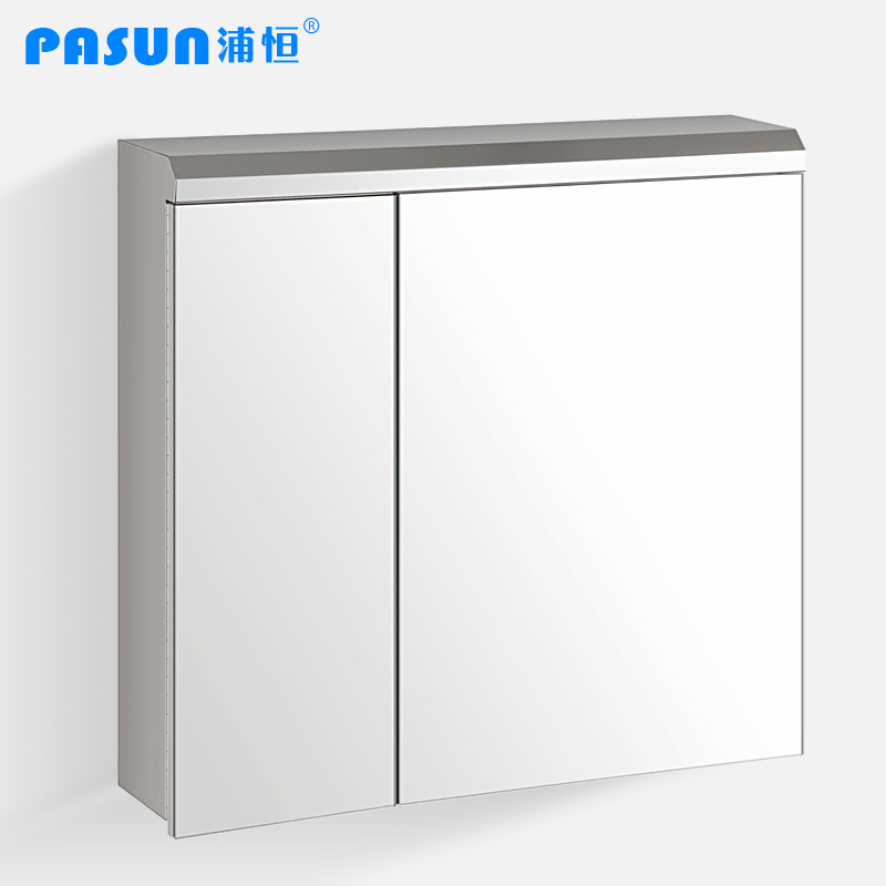 stainless steel sliding pasun two door bathroom mirror