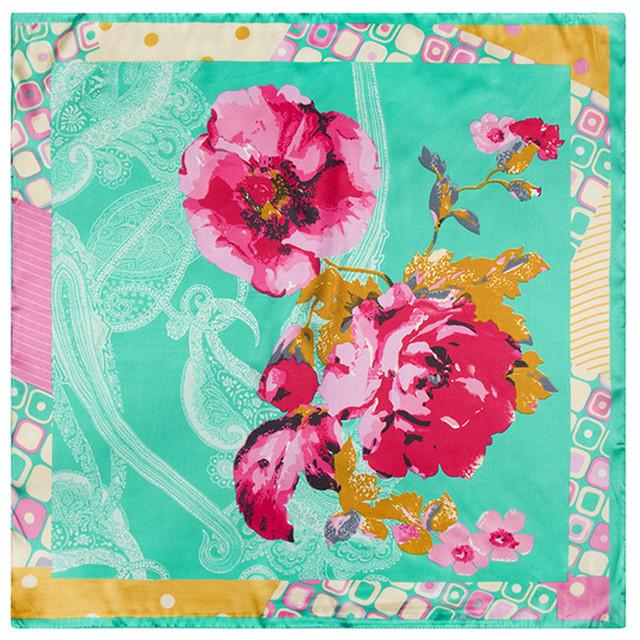 60 см * 60 см женщин весной 2016 новый кешью цветок леди сатин цветочным узором небольшой площади шарф