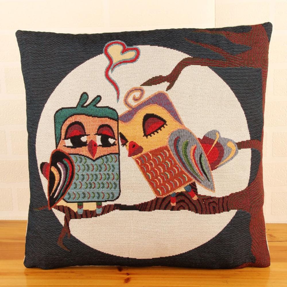 Scandinavian cheap coussin cuscini 18 cute owl sofa for Where to buy sofa pillows