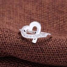 Buy 2016 love silver plated ring women Wedding heart paved white cz zircon vintage luxury design gift Engagement Ring jewelry for $1.46 in AliExpress store