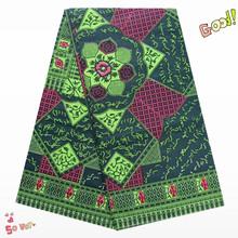 Fashionable Design block printed exclusive super wax hollandais 100% Cotton Fabric Material!NEW163(China (Mainland))