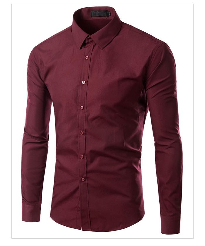 Free Shipping New Mens Shirts Mens Casual Shirts Slim Fit
