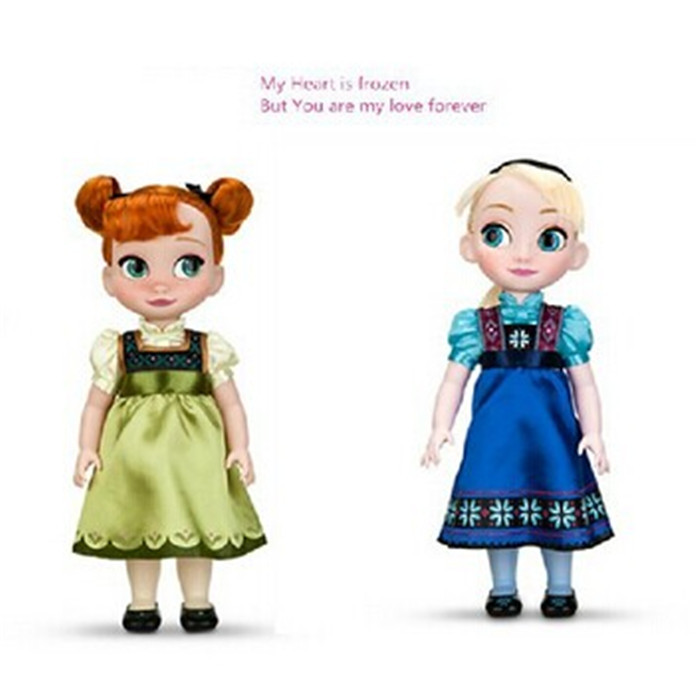 One Piece Dolls Princess Vocalization 40 cm Anna Elsa Plush Toys Party Decoration Kids Brinquedos Toys For Children 85183(China (Mainland))
