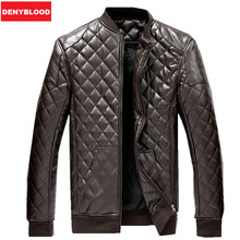 2015 Men'new Arrival Pu Leather Jacket Slim Stand Collar Autumn&winter Plus Size M-5xl Plus Velvet Jacket Coat For Male(China (Mainland))