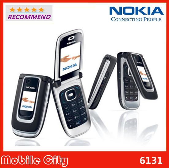 6131 Unlocked Original Nokia 6131 Refurbished mobile phone have Russian keyboard and English keyboard Free Shipping(China (Mainland))
