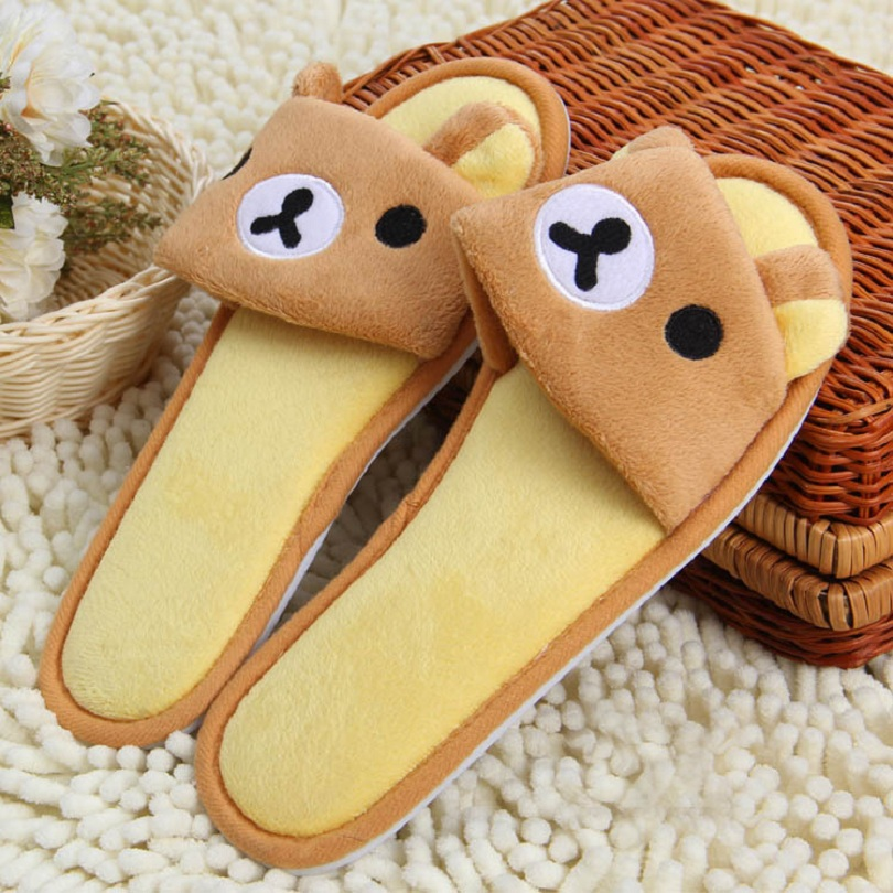 Big Animal Rilakkuma Slippers Home Warm Slippers For Women Slippers Winter House Shoes<br><br>Aliexpress