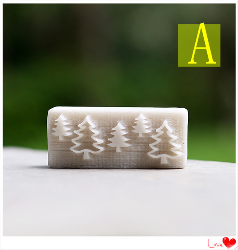 Small Christmas tree pattern mushroom pattern chapter chapter Mini stamp Soap stamp making The new resin seal Personalized Soap(China (Mainland))