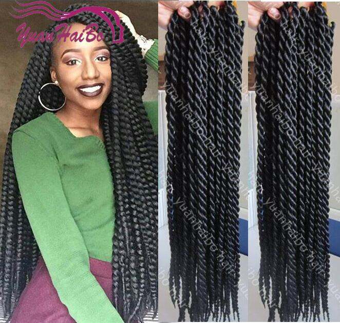 Full Head Crochet Box Braids : long length black Havana mambo twist crochet braids synthetic braiding ...