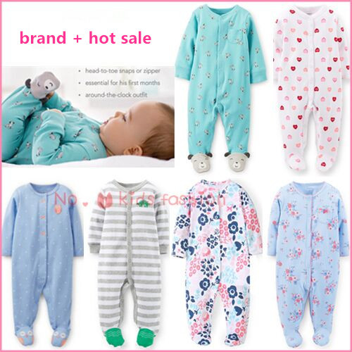 baby clothing ! 2015 carters Baby girl spring jumpsuit animal romper clothes infant costume for kids sleepwear & Pajamas vestido(China (Mainland))
