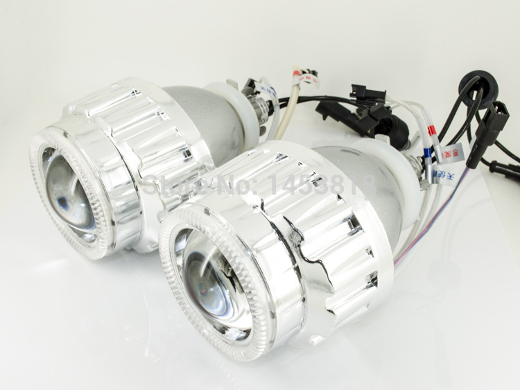 2.8HQ Blue White Yellow Lens Angel Eyes H1 H7 H4 H13 HB3 HB4 9004 9007 8000K 6000K 4300K NEW 2.8 inch Bi-xenon Projector Lens
