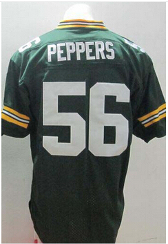 #56 Julius Peppers Jersey,Elite Football Jersey,Best quality,Authentic Jersey,Embroidery Logo,Size M--3XL,Can Mix Order
