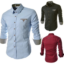 The New Spring and Summer 2015 Men Han edition Cultivate High quality Leisure shirt  3 COLOR(China (Mainland))