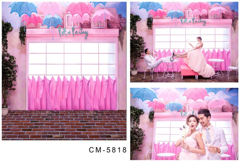 300cm*600cm(10ft*20ft) wedding background Window pink umbrella  photography photography backdrops cm-5818<br><br>Aliexpress