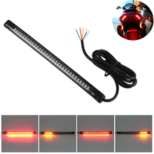 "Universal Flexible 32LED Motorcycle Light Strip Tail Brake Stop Turn Signal Light License Plate Lamp 8"" Red and Amber Led Color(China (Mainland))"