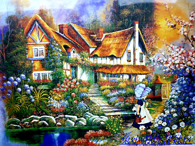 Hot 2014 adult children educational toys, 500 piece of landscape painting Jigsaw puzzles A cartoon Free shipping(China (Mainland))