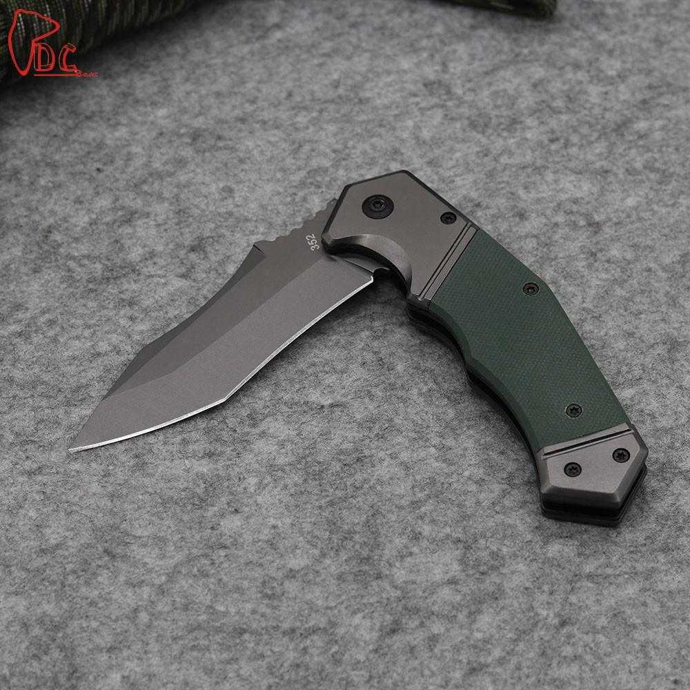 Buy Dcbear Top Tactical Knives Folder 8CR13MOV Steel Blade G10 Handle Camping Hunting Pocket Knives Edc Multi Tools cheap