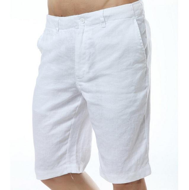 Лето мужская одежда свободного покроя 100% белье шорты мужчины твердого середине ...