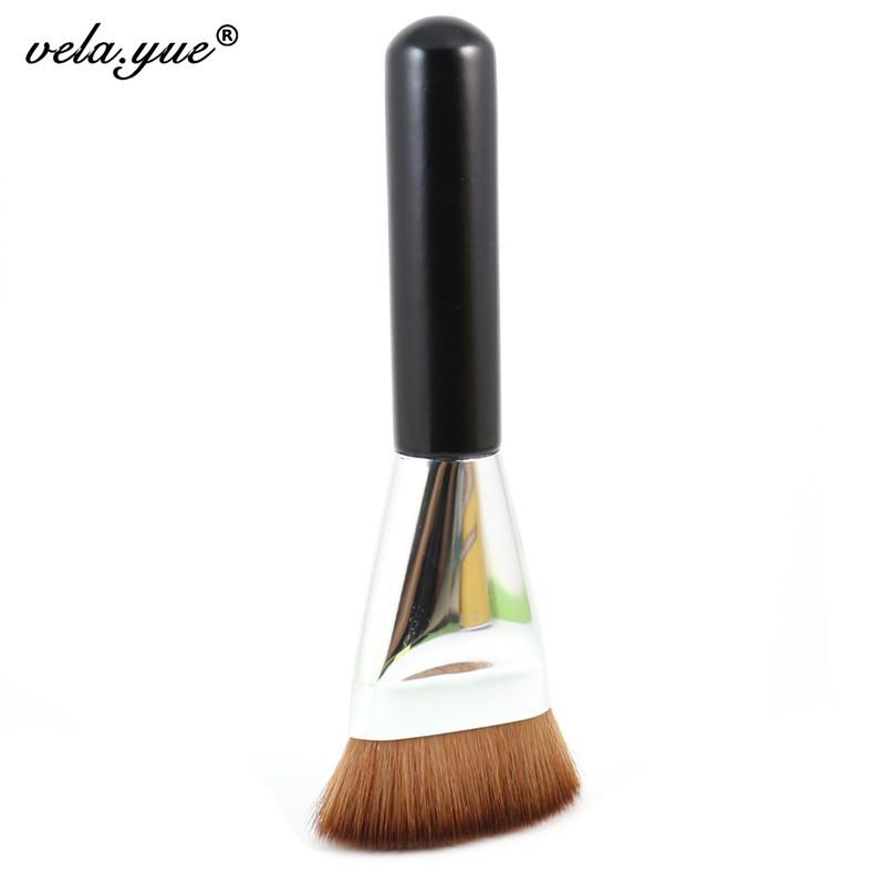 Professional 163 Flat Contour Brush Face Blending Blusher Makeup Brush(Hong Kong)