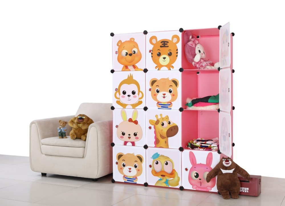 lovely cartoon design clothes cabinets storages bedroom wardrobes for children(China (Mainland))