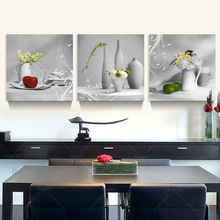 3 Panel Printed Abstract Still Life Kitchen Canvas Art Painting Cuadros Decoracion Home Decor For Living Room Unframed PRA45(China (Mainland))