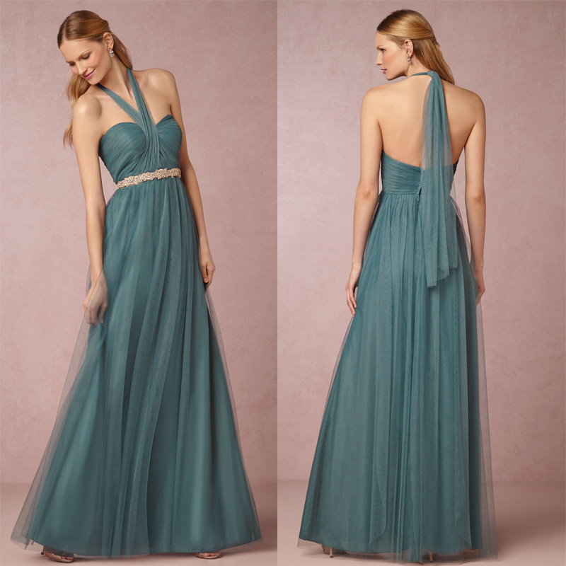Custom size 2015 turquoise dresses floor length long for Turquoise wedding guest dress