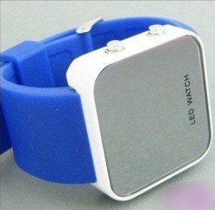 wholesale! NEW Fashion  Boy Girls ODM jelly blue Watch, ODM Mirror LED watches Digital watches FREE shipping
