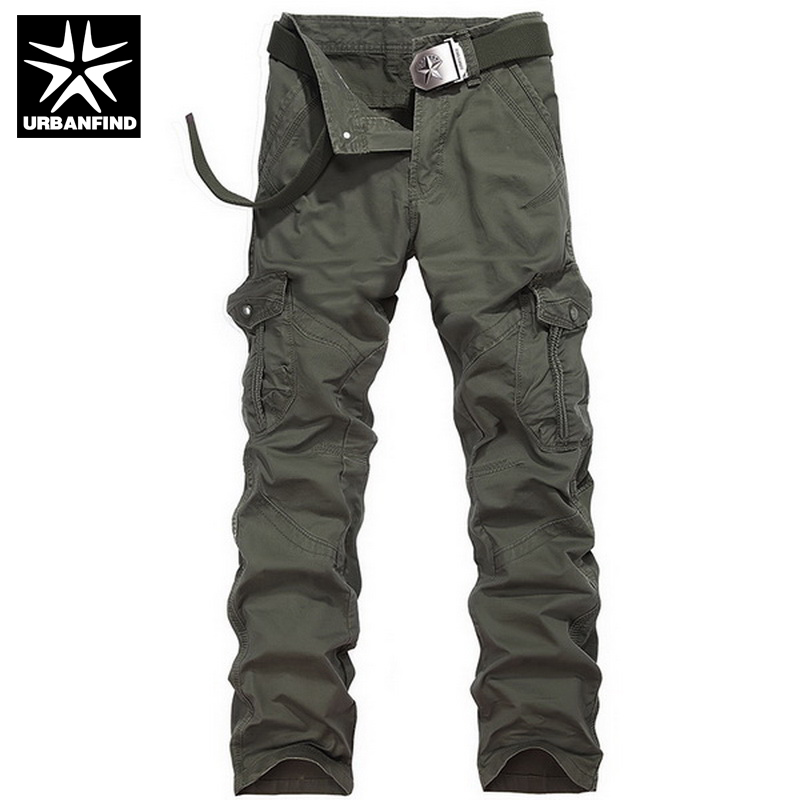 New Model Men Army Cargo Pants Size 29-38 Autumn Spring Clothing Pockets Man Casual Straight Trousers(China (Mainland))