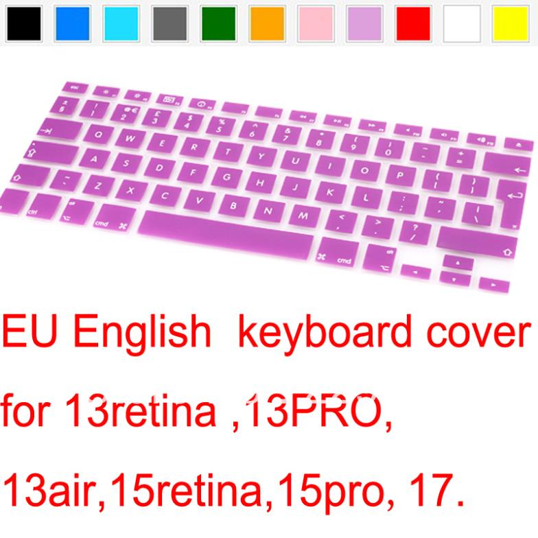 2015 Russian Spanish French Swedish German English Arabia Silicone US/EU Keyboard Cover skin Protector For Macbook Air/Pro 13 15(China (Mainland))