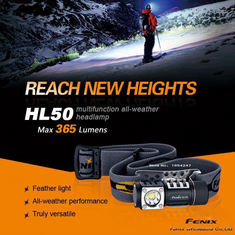 New Fenix HL50 Headlamp 3 Mode Strong Multi-Purpose--Free shipping CREE XM-L2 T6 LED(China (Mainland))