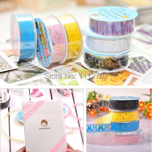 1 conjunto / 5 pcs de haute qualité bricolage dentelle en plastique creux Sticker décoratif ruban adhésif A2494 livraison gratuite NUuMr(China (Mainland))