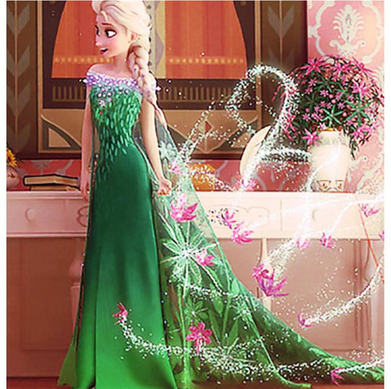 Elsa Dress Anna Princess Dress 2015 New Elsa Costume Girls Clothes Toddler Girl Clothing Christmas Dress Ropa Mujer<br><br>Aliexpress