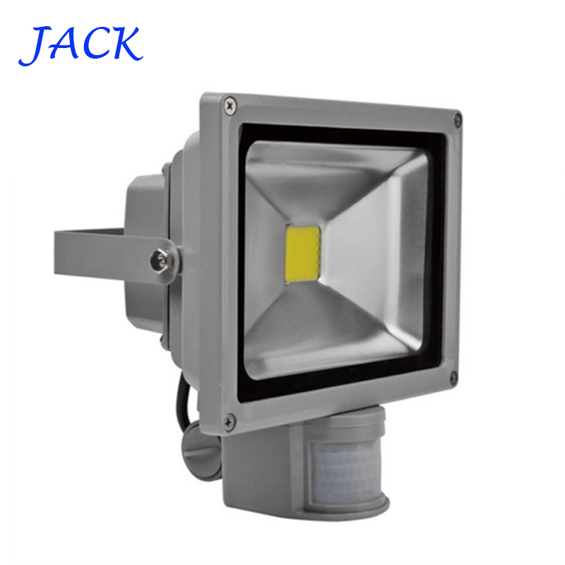 DHL IP65 Waterproof 10W 20W 30W 50W Led Floodlight Outdoor Project Lamp LED Flood light AC85-265V PIR Motion detective Sensor 55(China (Mainland))
