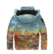 Highest quality suprem jacket Urban outdoor jackets Urban landscape printing waterproof jacket mens outdoor windbreaker jacket