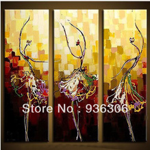 Buy Painting Canvas Dance Paintings 100% Handmade 3 Panel Wall Art Picture Living Room Bedroom Pictures Decor Frame for $23.39 in AliExpress store