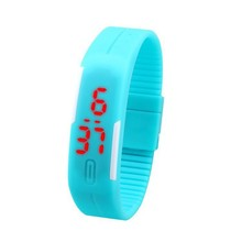 Dropshipping 2015 Newest Candy Color Led Touch Digital Wrist Watch Silicone Jelly Waterproof Sports Bracelet Watch