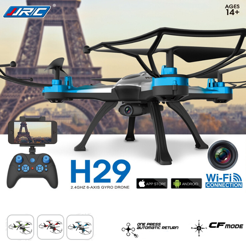 JJRC H29W 2.4G Wifi CF Aerial 6Axis 4CH Quadcopter RTF 2MP Camera Drone Can choose 4extra batteries VS CX30W JJRC H12W Syma X5SW<br><br>Aliexpress