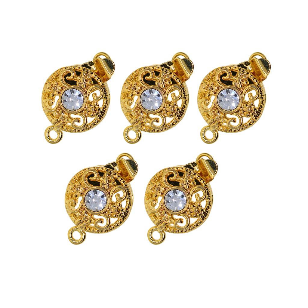 5x Filigree Box Clasp Connector Repair Findings For Jewelry Making 17x10mm