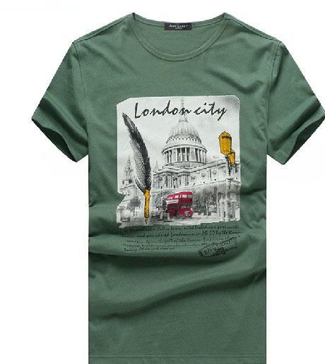New 2015 Prints Fashion T-shirt Men Short-sleeve Tshirts Camisetas Masculinas 95% Cotton Mens Art Drawing Casual T-shirts(China (Mainland))