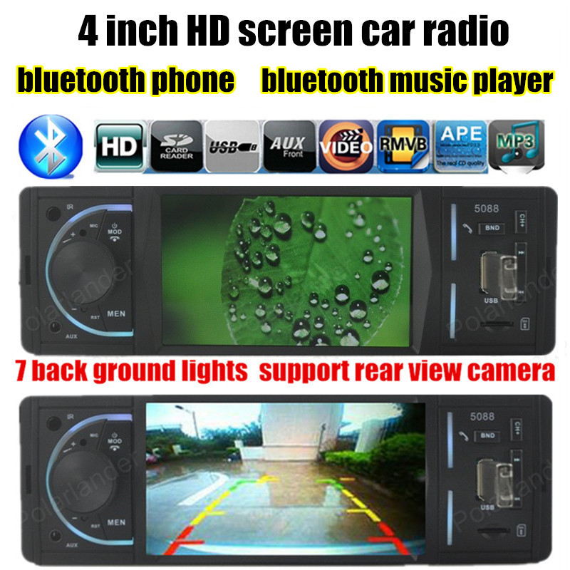 4 inch TFT HD Screen Car MP5 player Bluetooth Player Handsfree AUX Ports Stereo Radio Audio Support Rear Camera TF/USB 12V<br><br>Aliexpress