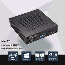 Новый промышленный дизайн пк мини-компьютер Barebone окна 10 Core i3 4020Y