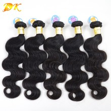 DK Hair Wholesale 100% Human Hair Extension Body Wave 50 Bundles Unprocessed Brazilian Virgin Hair Body Wave 6A 7a 8a Grade(China (Mainland))