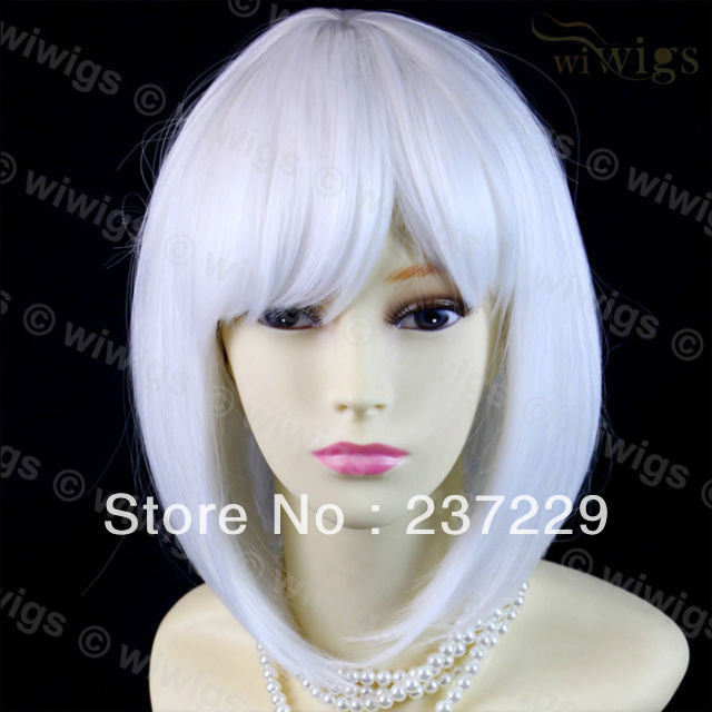 Wholesale price SHIPPING ^^^^New Watch Out Cosplay Snow White Bob Style Ladies Wigs Skin Top Short Wig UK(China (Mainland))
