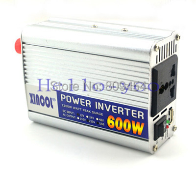 1pc Modified Sine Wave DC 12V to AC 220V car auto power inverter converter adapter 600W free shipping(China (Mainland))